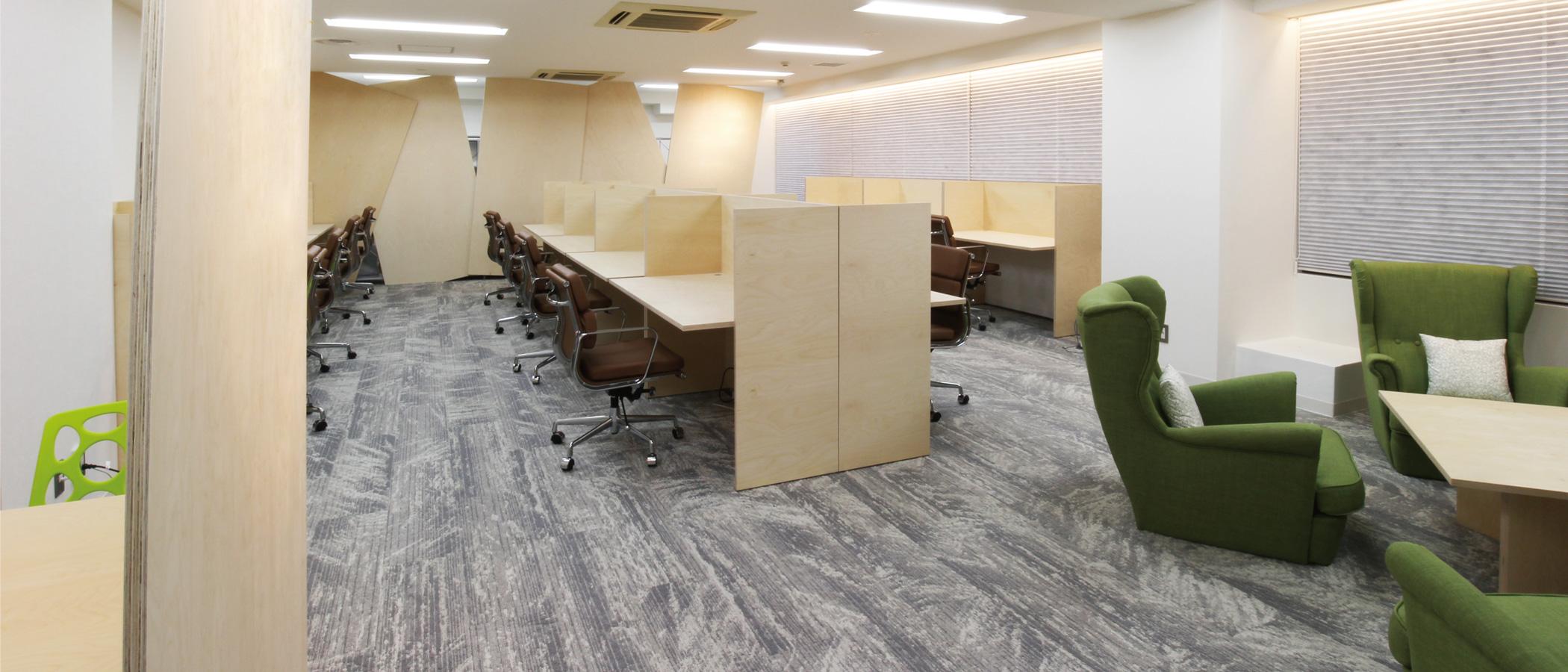 京都のコワーキング シェアオフィス FVC Mesh KYOTO 内観 booth
